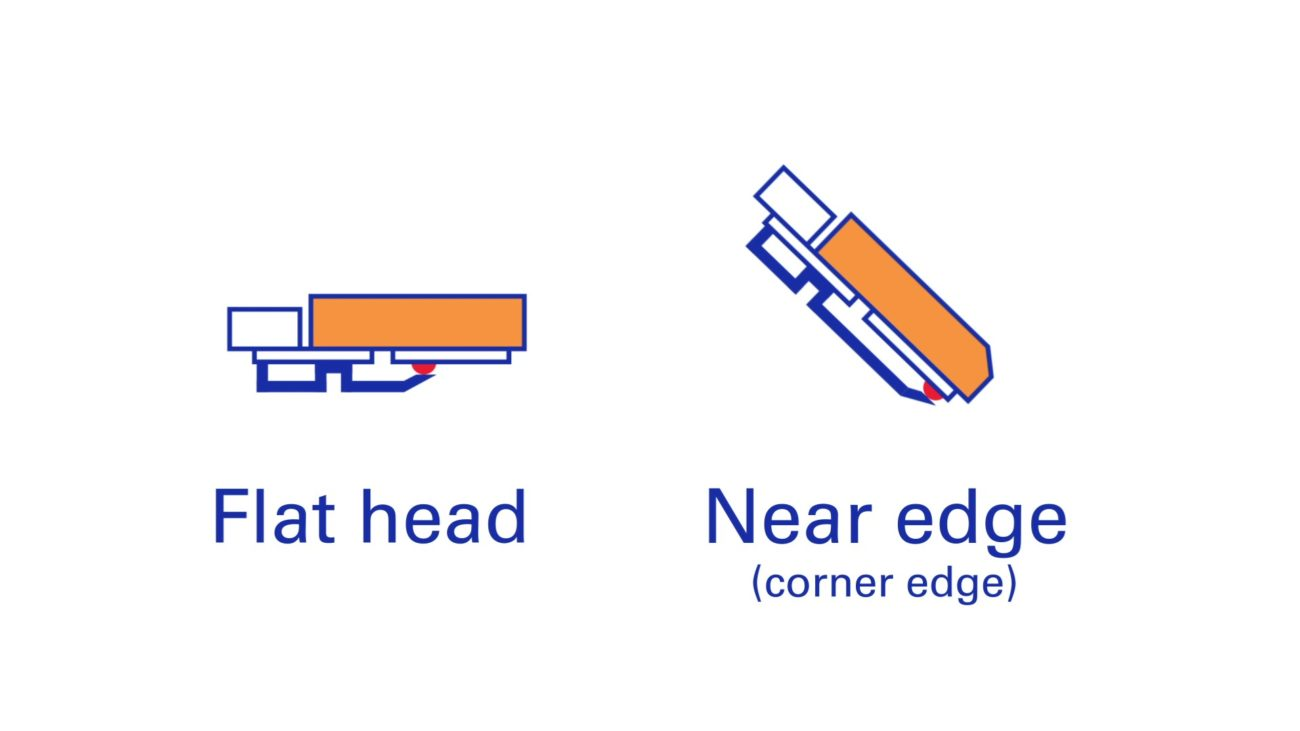 What's the difference between Flat-head and Near-edge thermal transfer ribbons